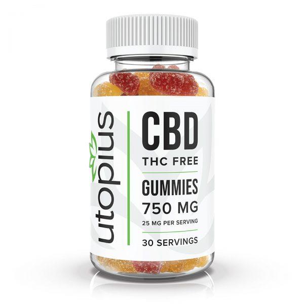 Utopius THC Free Isolate Gummies